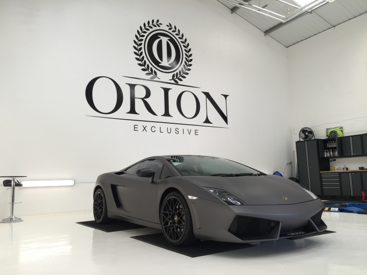 Orion Luxury Vehicle Wrap Logo Design