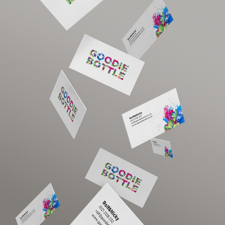 goodie bottle logo and branding