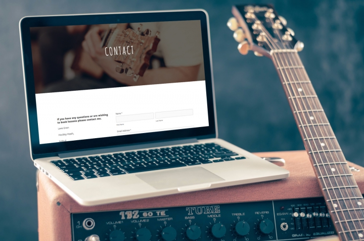 Lewis Green Guitar Tuition Website Design